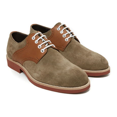 Plain Derby // Taupe + Brown