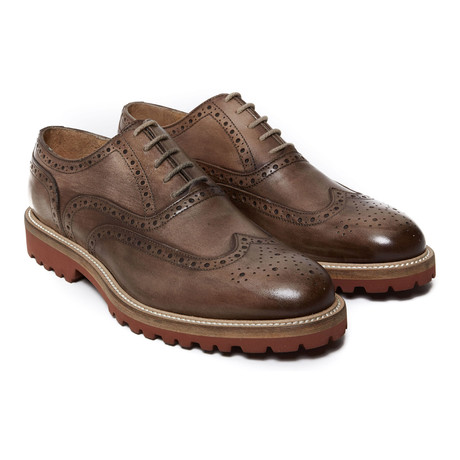 Wing-Tip Lug Oxford // Taupe