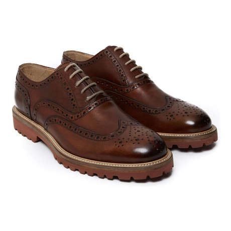 Wing-Tip Lug Oxford // Brown