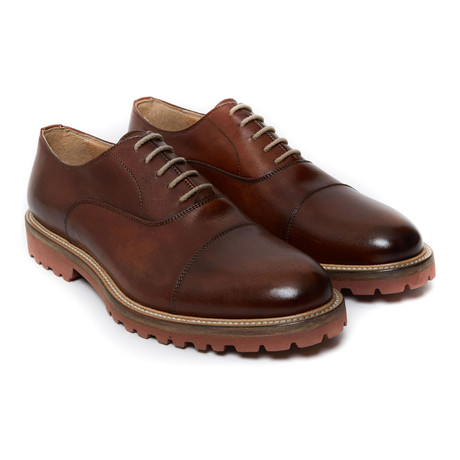 Cap-Toe Lug Oxford // Brown