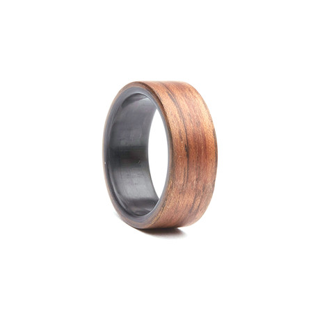 Walnut Twill Carbon Fiber Ring (Size 7)