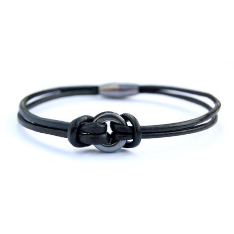 Ring Snap Bracelet // Black