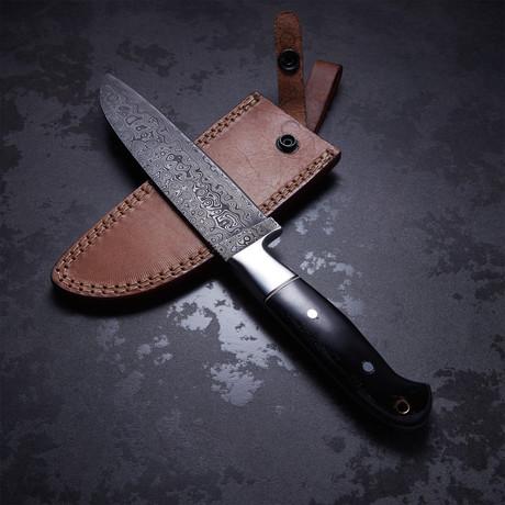 Buffalo Horn Medium Santoku Chef Knife