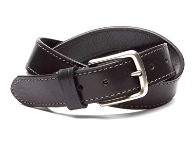 Photo of Boconi Premium Italian Leather Belts Bryant Embossed Logo Leather Belt // Black (38) by Touch Of Modern