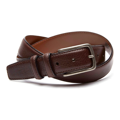 Eric Italian Leather Dress Casual Belt // Brown (32)