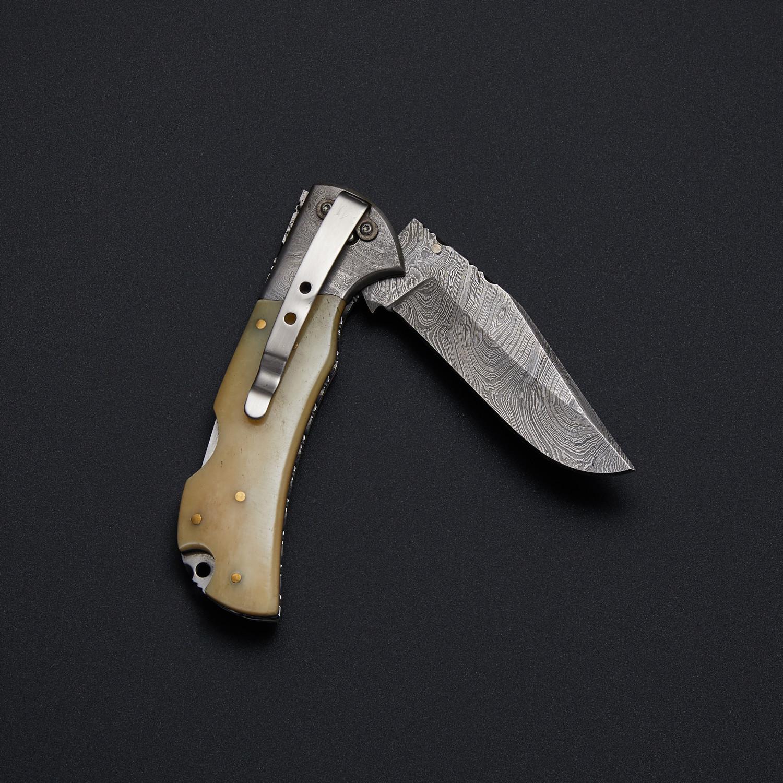 5010 Bone // Single Blade Pocket Knife - Knives Ranch