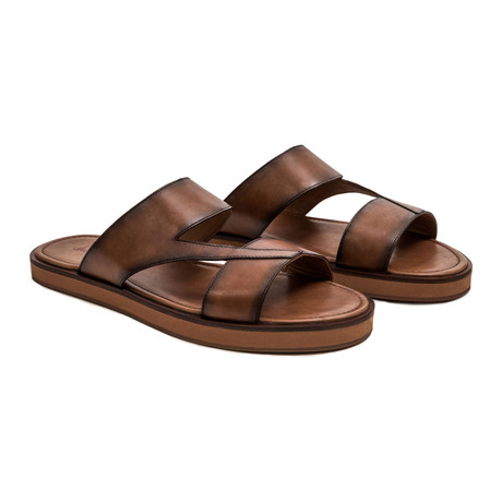 Capri Sandal // Tan + Brown