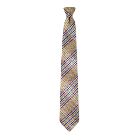 Wegener Tie // Yellow + Brown + Red + Blue