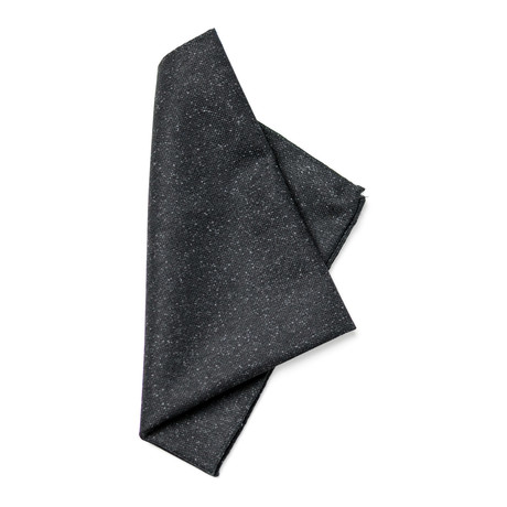 Planck Pocket Square // Charcoal