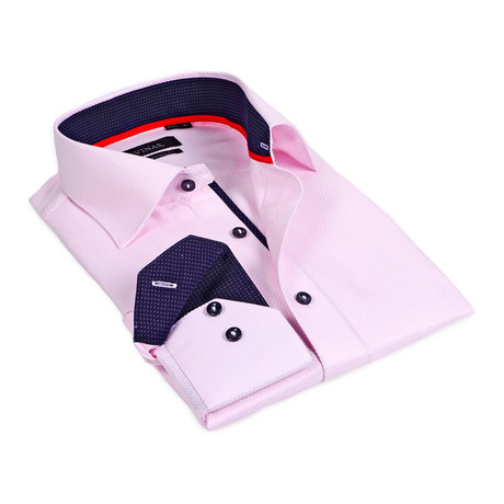Microdot Button-Up // Pink (S)
