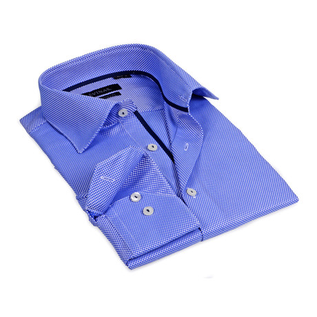 Microdot Button-Up // Blue (S)