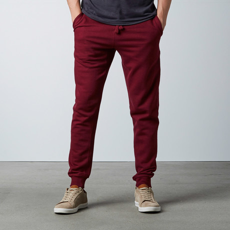 Simply Butter Jogger // Burgundy (S)