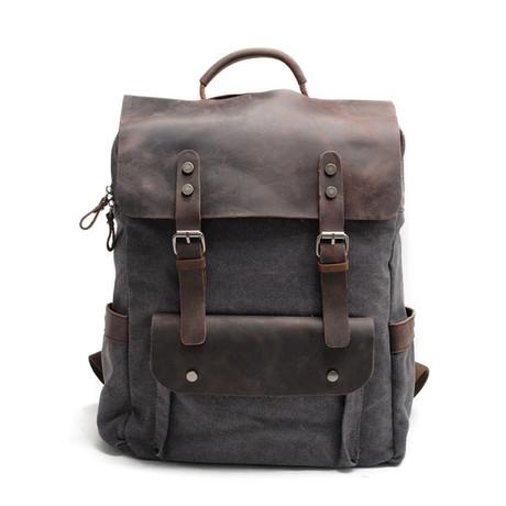 Canvas Backpack // 725 (Dark Grey)