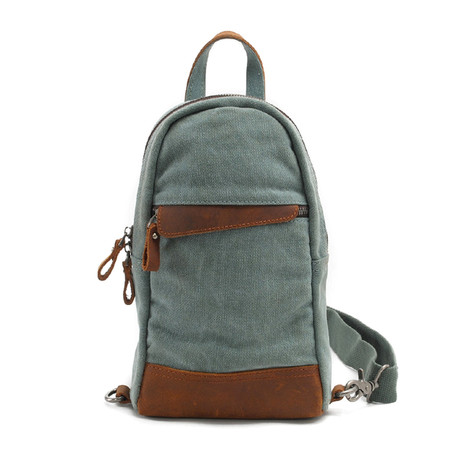 No. 730 Canvas Waist Bag (Army Green)