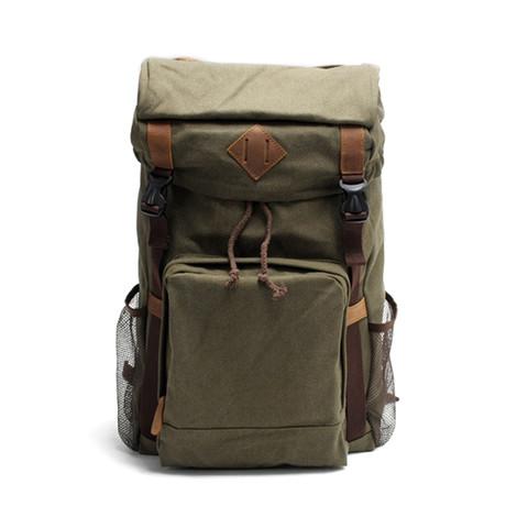 No. 735 Canvas Backpack (Dark Grey)