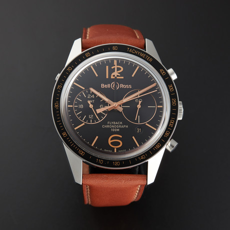 Bell & Ross Vintage Chronograph Automatic // BRV126-FLY-GMT/SCA // Store Display