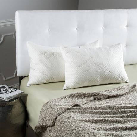 Memory Foam Pillows + Bamboo Cover // Set of 2 (Queen)