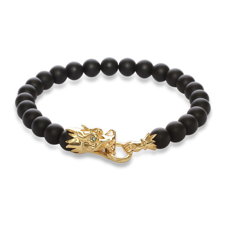 "The Siege of The Dragon Bracelet // Black (6"")"