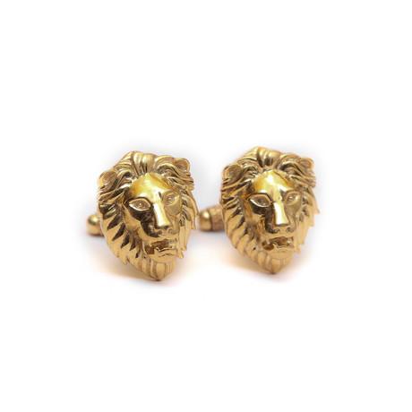 Poised Royal Lion Cuff Link Set