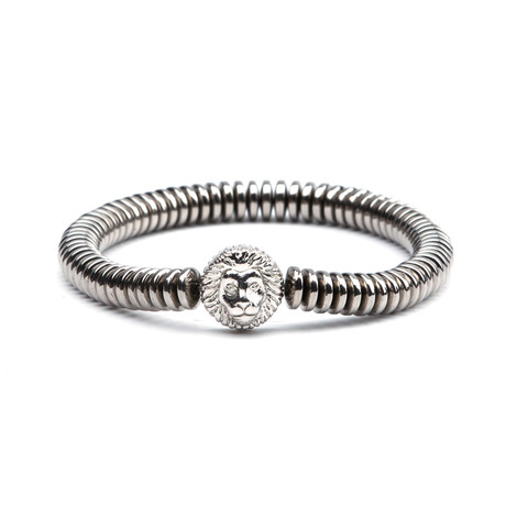 Lion King Accordion Bracelet // Silver