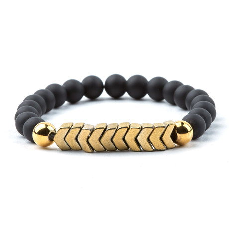Arrows Bracelet // Black + Gold