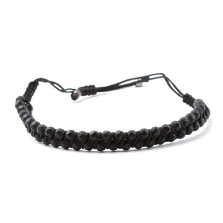 Woven Cord Bracelet // Black