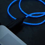 LED Glowing Cable // Blue