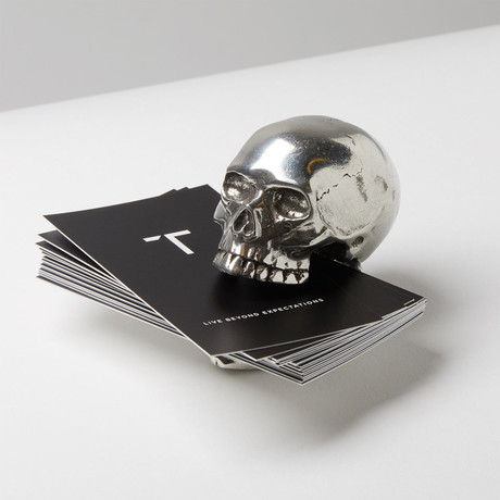 Laugh Out Loud Skull Card Holder