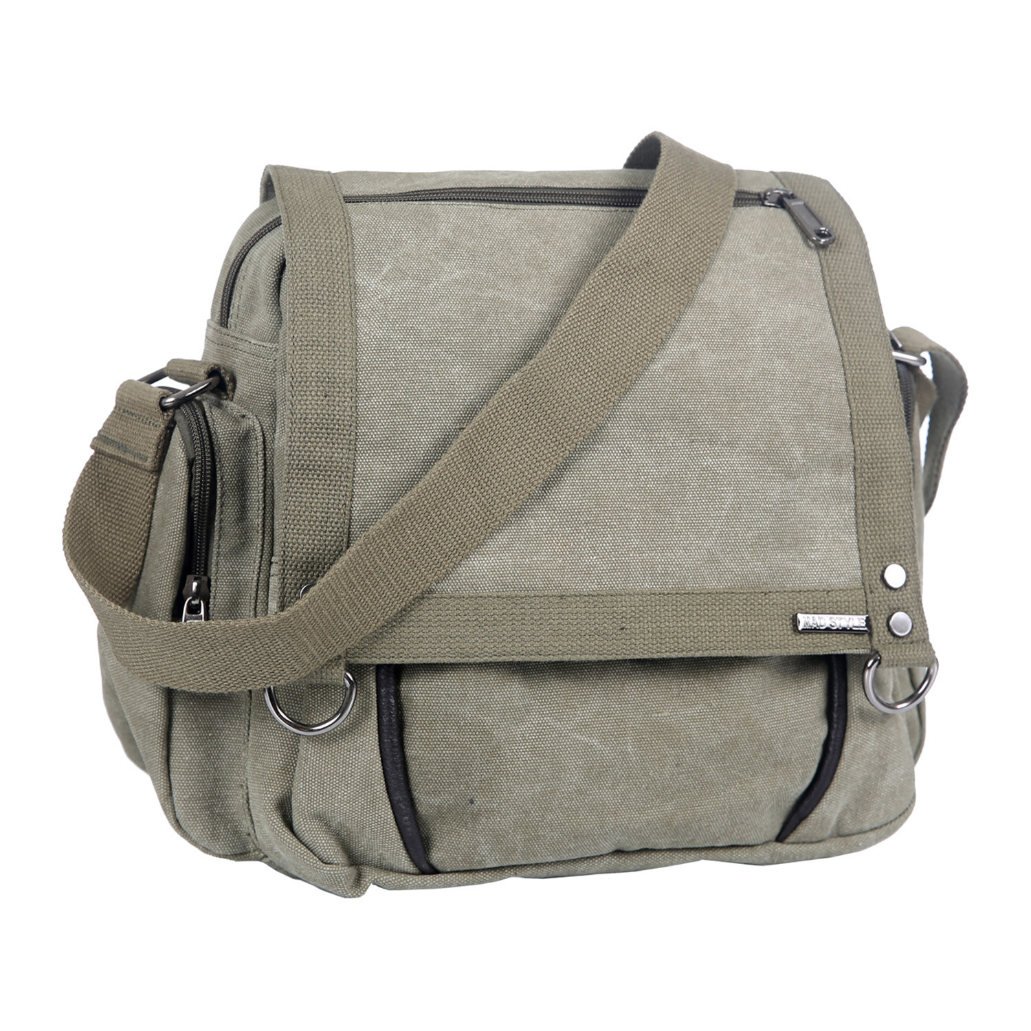 Small Canvas Messenger (Black) - Mad Style - Touch of Modern f2ece4284f