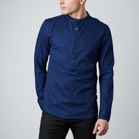Gannon Denim Woven Shirt // Dark Indigo
