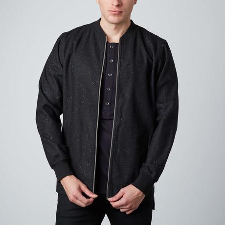 Bryce Zip Up Jacket // Jet Black