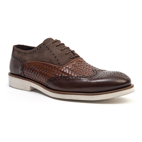 Woven Wing-Tip Oxford // Brown