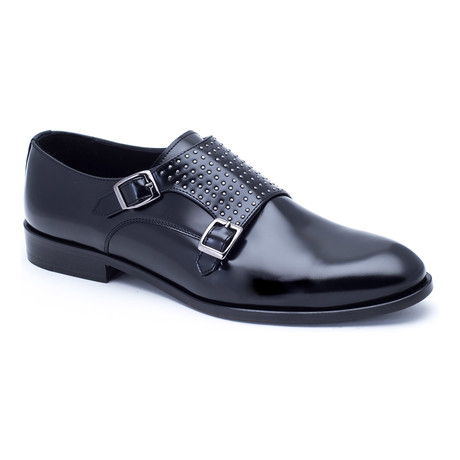 Embellished Double-Monk Strap // Black (Euro: 40)
