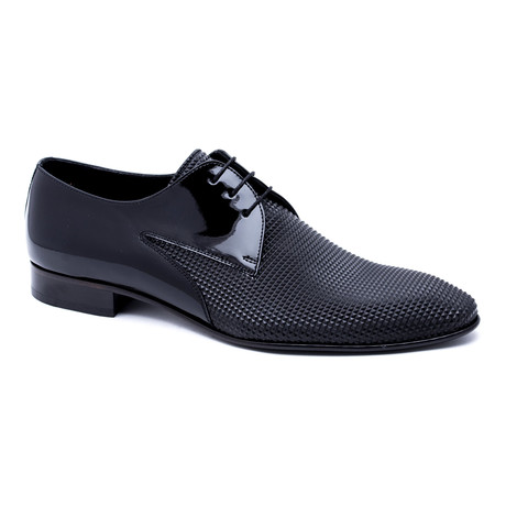 Textured Toe Derby // Black (Euro: 40)