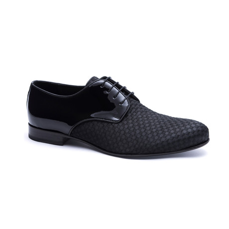 Elegant Textured Derby // Black (Euro: 40)