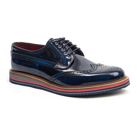 Washed Wing-Tip Derby // Navy