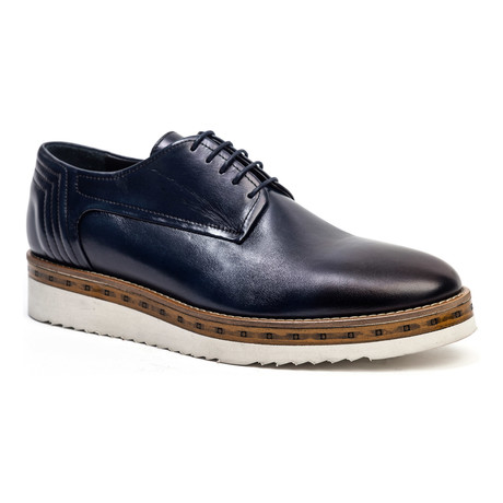 Casual Wooden Derby // Navy (Euro: 40)