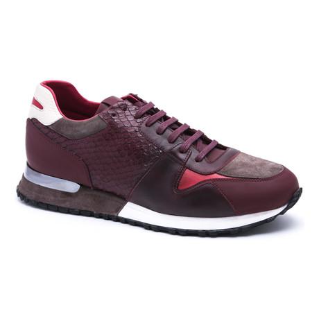 Running-Styled Sneaker // Burgundy