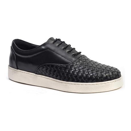 Woven-Toe Sneaker // Black