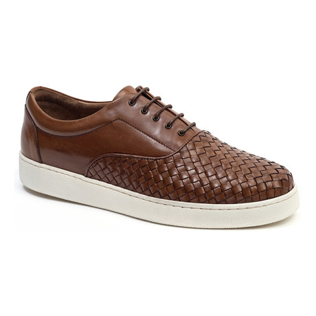 Woven-Toe Sneaker // Camel