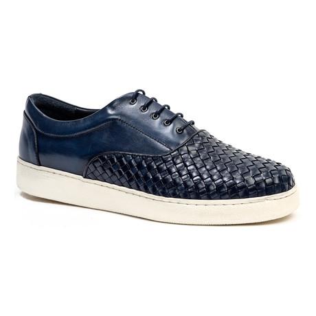 Woven-Toe Sneaker // Navy