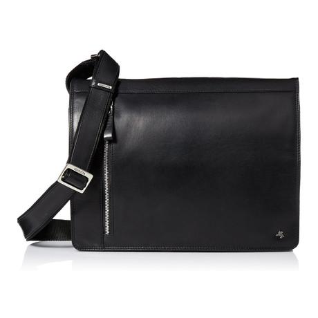 Buffalo Leather Messenger Bag // Black