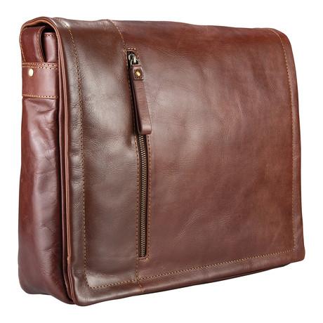 VT-5 Soft Leather Messenger // Vintage Tan