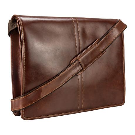 VT-7 Soft Leather Messenger Bag Case // Vintage Tan
