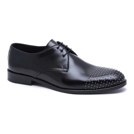 Embellished Toe Cap Derby // Black
