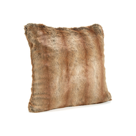 """Limited Edition Faux Fur Pillow // Coyote (18""""L x 18""""W)"""