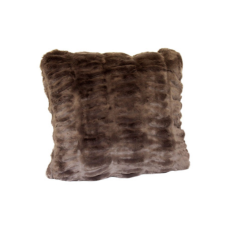"""Couture Faux Fur Pillow // Taupe Mink (18""""L x 18""""W)"""