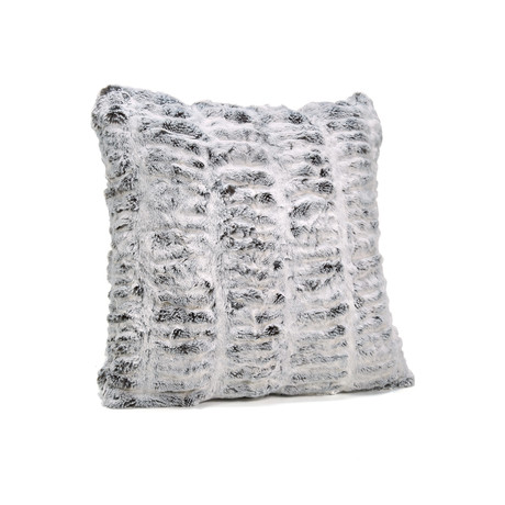 "Couture Faux Fur Pillow // Frosted Gray Mink (24""L x 24""W)"