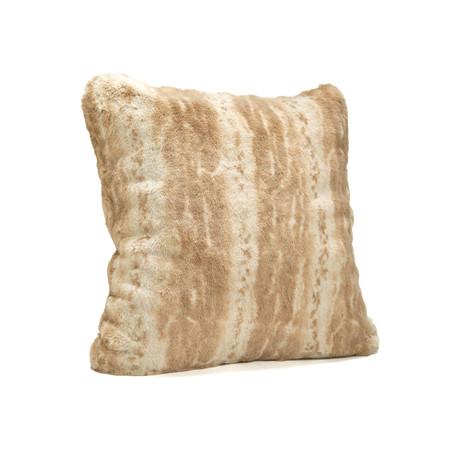 """Couture Faux Fur Pillow // Blonde Mink (24""""L x 24""""W)"""