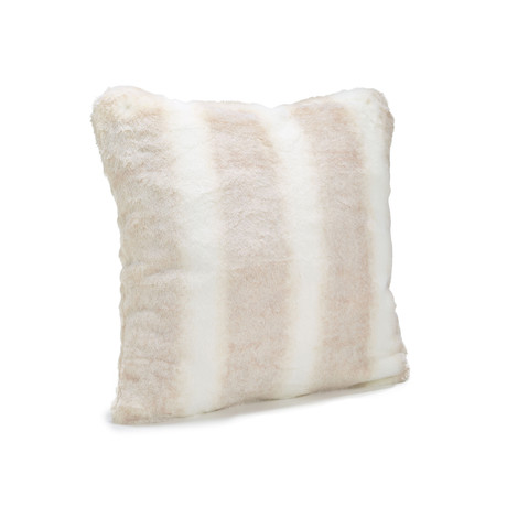 "Couture Faux Fur Pillow // Iced Mink (24""L x 24""W)"
